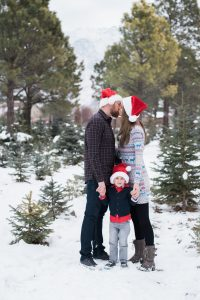 An Image from a Family Photography Session at a Christmas Tree Farm in Alpine, Utah