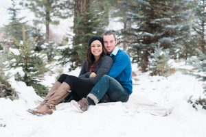An Image from a Couple's Session at a Christmas Tree Farm in Alpine, Utah