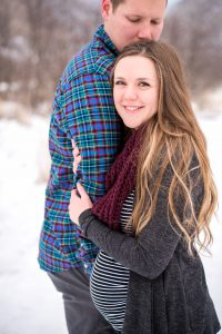 An Image from a Couple's Maternity Session in Rock Canyon in Provo, Utah