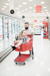 An Image from a Couple's Photography Session at Target