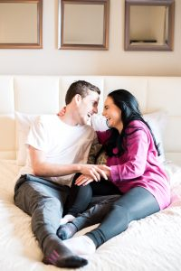 An Image from a Couple's In Home Lifestyle Photography Session