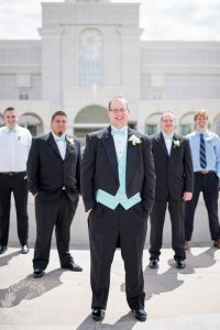 An Image from the Temple Wedding at the Bountiful, Utah Temple