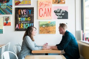 An Image from an Engagement Photography Session at Waffle Love in A
