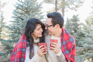 An Image from a Couple's Photography Session at a Christmas Tree Farm in Alpine, Utah