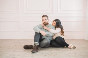 An Image of an Engagement Session at a Studio in Draper, Utah
