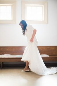 An Image from a Wedding at the Little White Chapel in Salt Lake City, Utah