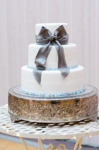An Image of a Wedding Cake at a Wedding Reception in Nephi, Utah